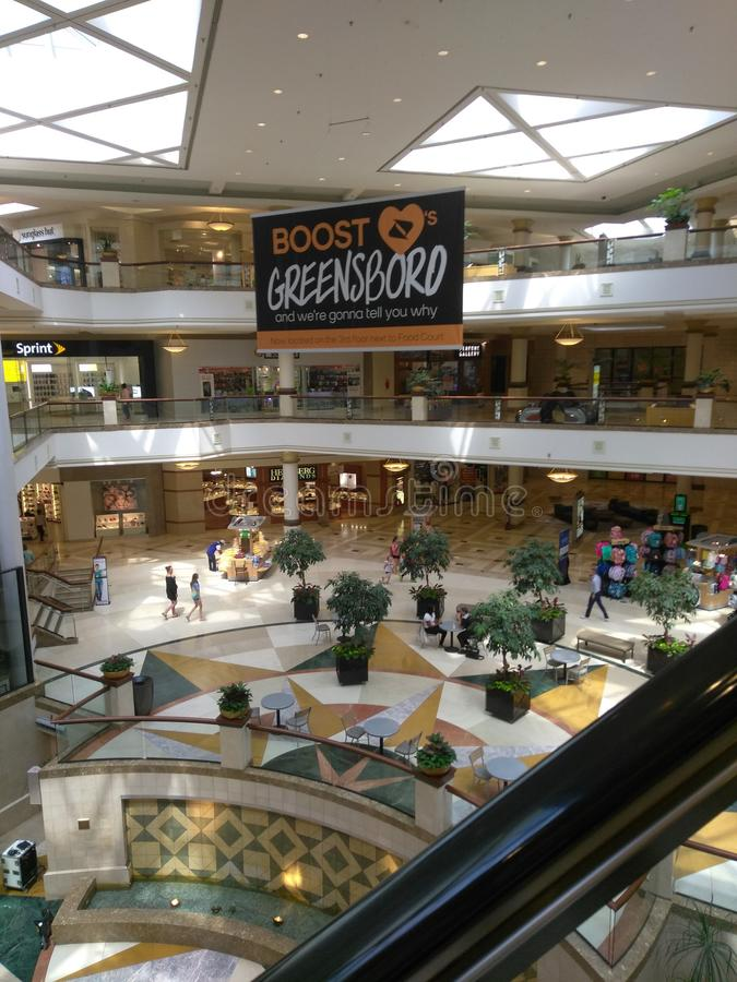 Мол Greensboro стоковая фотография