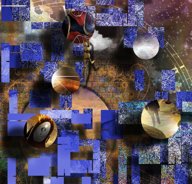 Моменты жизни иллюстрация вектора