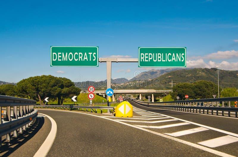Момент выбора, республиканца или Демократ стоковые изображения