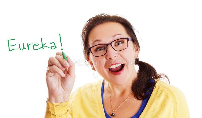 Момент Eureka стоковая фотография