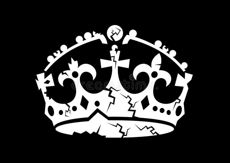 Монархия имеет проблему и тревоги иллюстрация штока