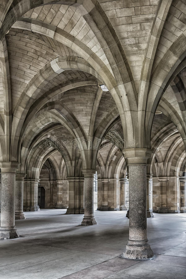 Монастыри университета Глазго стоковая фотография rf