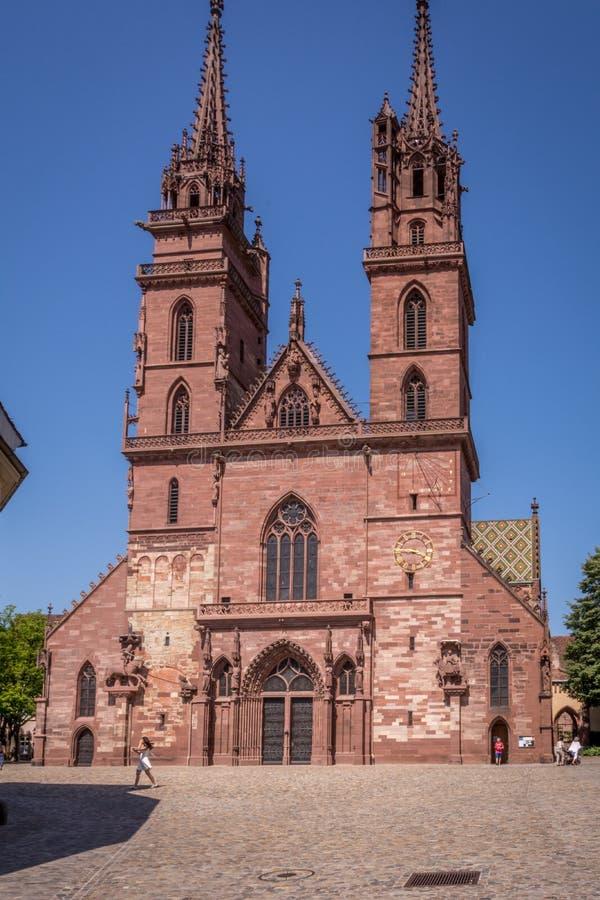 Монастырская церковь Базеля стоковое изображение