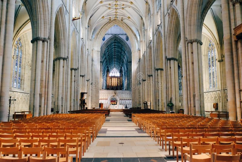 Монастырская церковь Йорка стоковая фотография