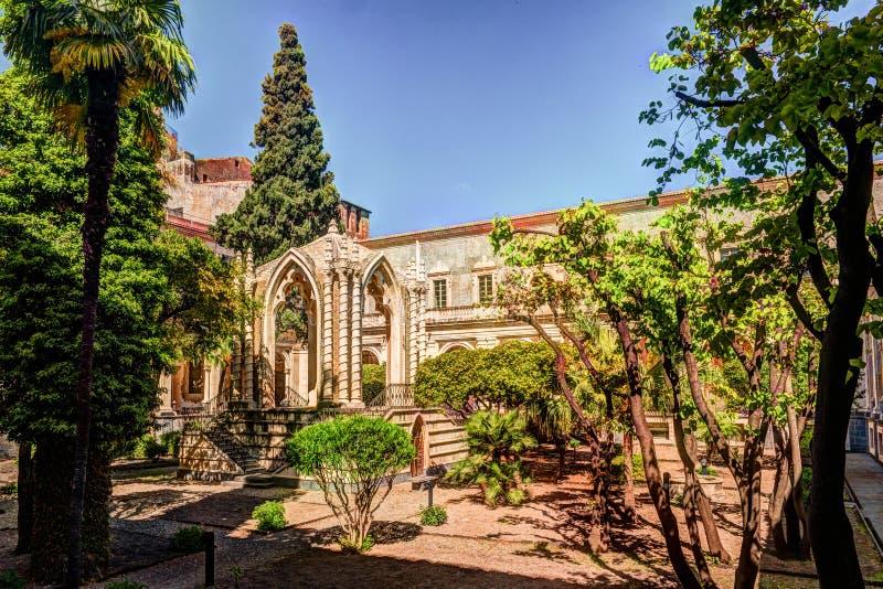 Монастырь бенедиктинского монастыря Сан Nicolo l арена ` в Катании, стоковые фото