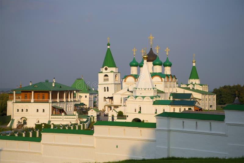 Монастырь восхождения Pechersky в Nizhny Novgorod стоковые фото