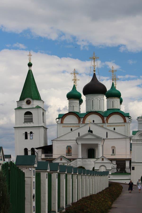 Монастырь восхождения Pechersky, Nizhniy Новгород стоковое фото rf