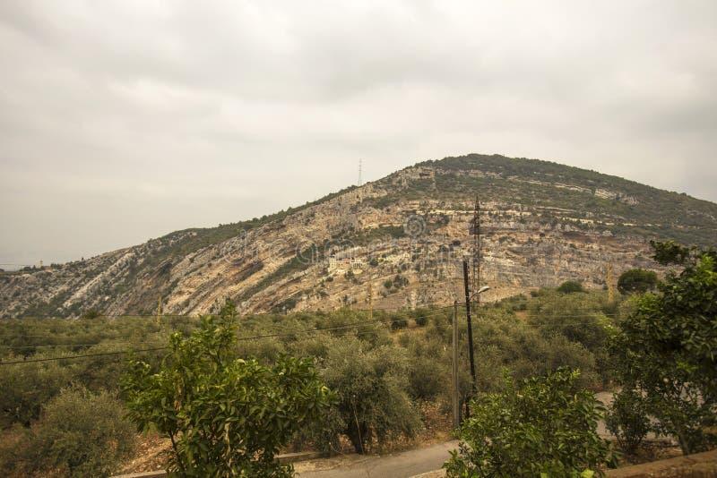 Монастырь в горе, Kousba el Koura Hamatoura, Ливан стоковые изображения rf