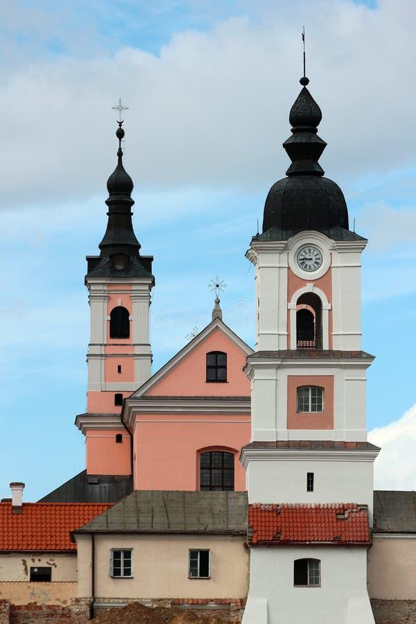 Монастырь в регионе Suwalki, Польша Camaldolese Wigry стоковая фотография rf