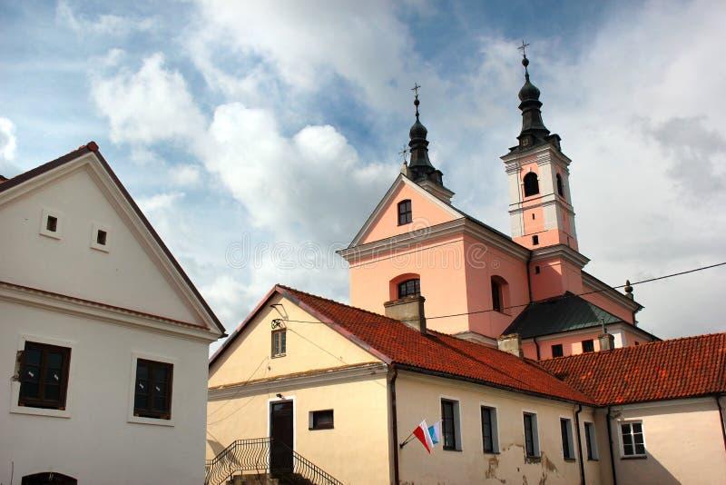 Монастырь в регионе Suwalki, Польша Camaldolese Wigry стоковое изображение