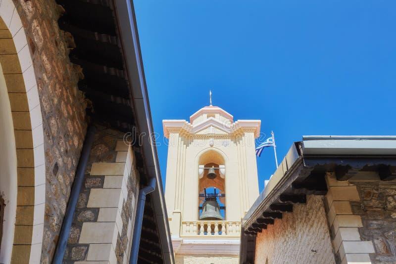 Монастырь девственницы Kykkos в горах Troodos, Кипра стоковая фотография