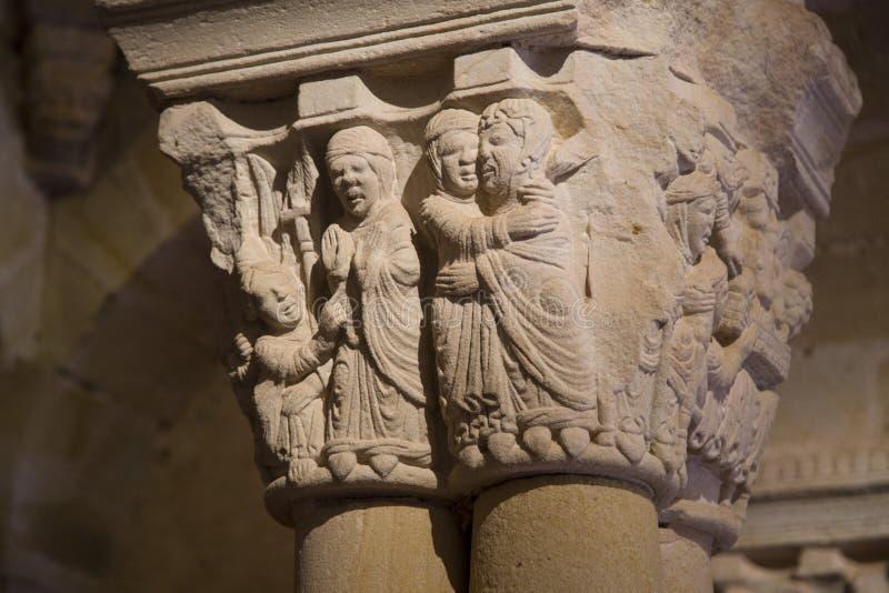 Монастырь монастыря Сан-Хуана de Duero в Сории стоковая фотография rf