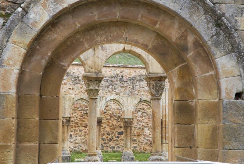 Монастырь монастыря Сан-Хуана de Duero в Сории стоковое изображение rf