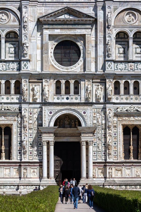 Монастырь Павии di Certosa, Италия стоковые изображения rf