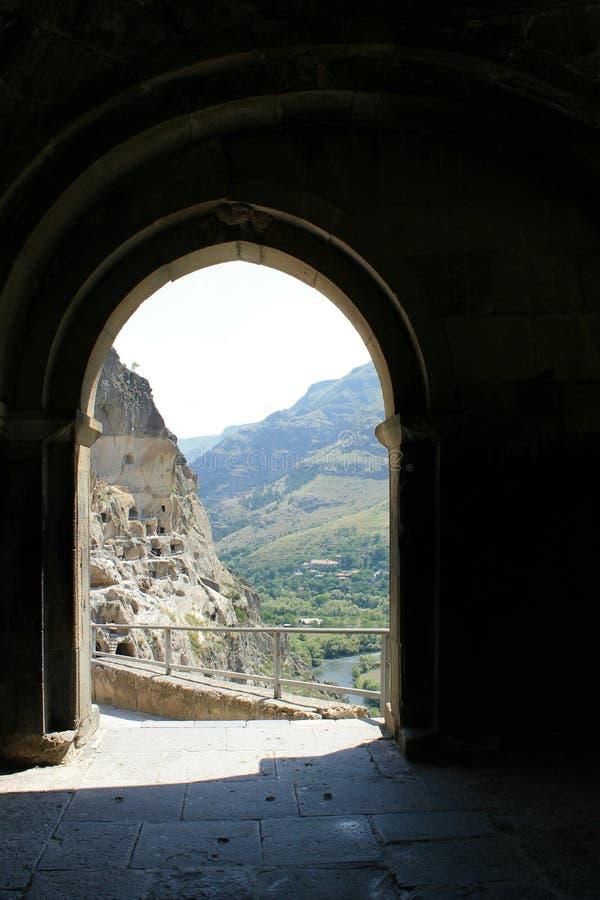 Монастырь пещеры Vardzia стоковые изображения rf
