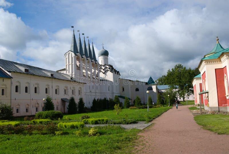 Монастырь предположения Tikhvin стоковое фото
