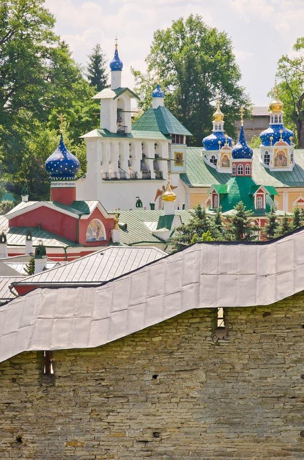 Монастырь Пскова-Pechersky, Россия стоковое фото