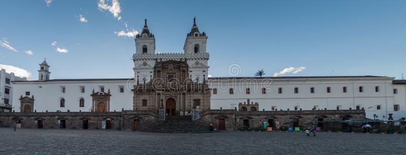 Монастырь Сан-Франциско в Кито, эквадоре стоковое изображение