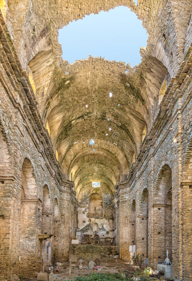 Монастырь Сан Francescu около Castifao в Корсике стоковая фотография