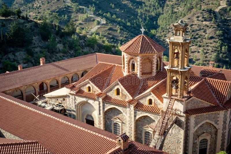Монастырь святых, королевских и Stavropegic Machairas nicosia стоковые изображения