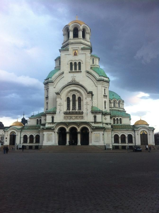 Монастырь София Болгария Александра nevsky стоковые изображения rf
