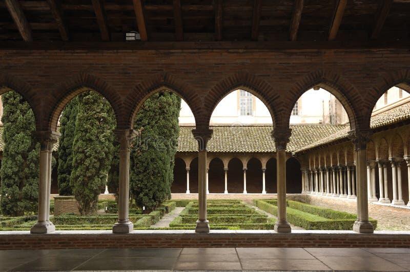 Монастырь церков Jacobins в Тулуза, стоковые фотографии rf