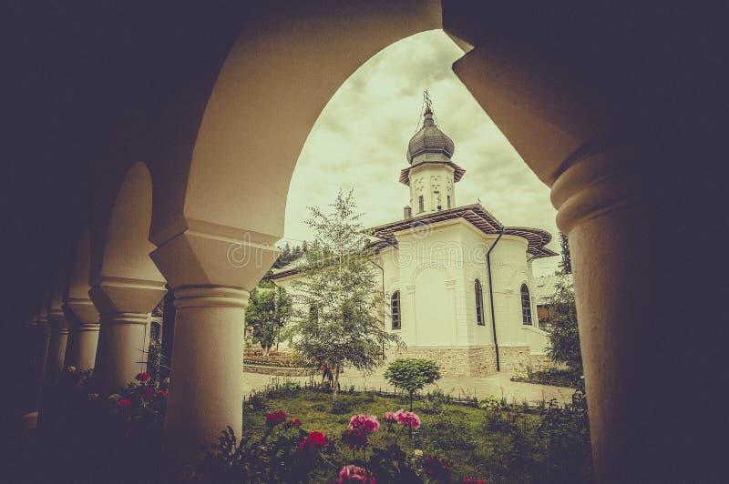 Монастырь Agapia правоверный в Румынии стоковые фотографии rf