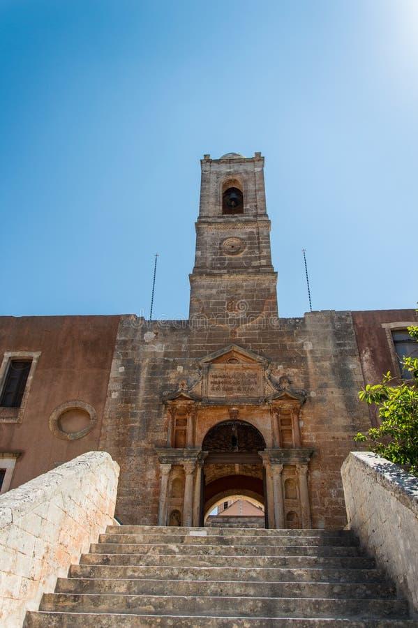 Монастырь Agia Triada в Крите, Греции стоковые фотографии rf