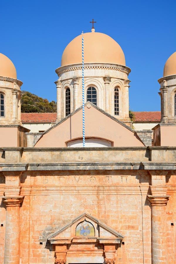 Монастырь Agia Triada, Крит стоковая фотография rf