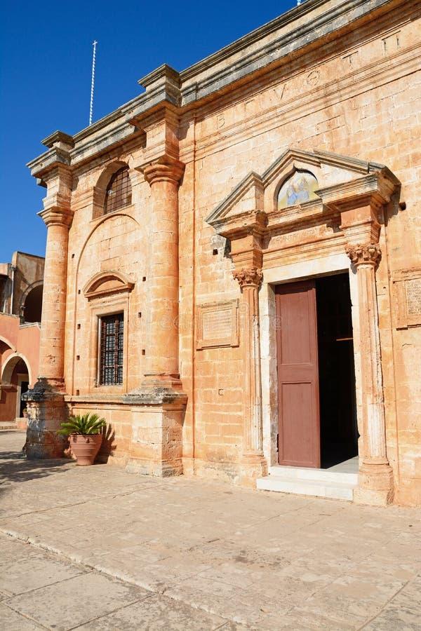 Монастырь Agia Triada, Крит стоковое изображение