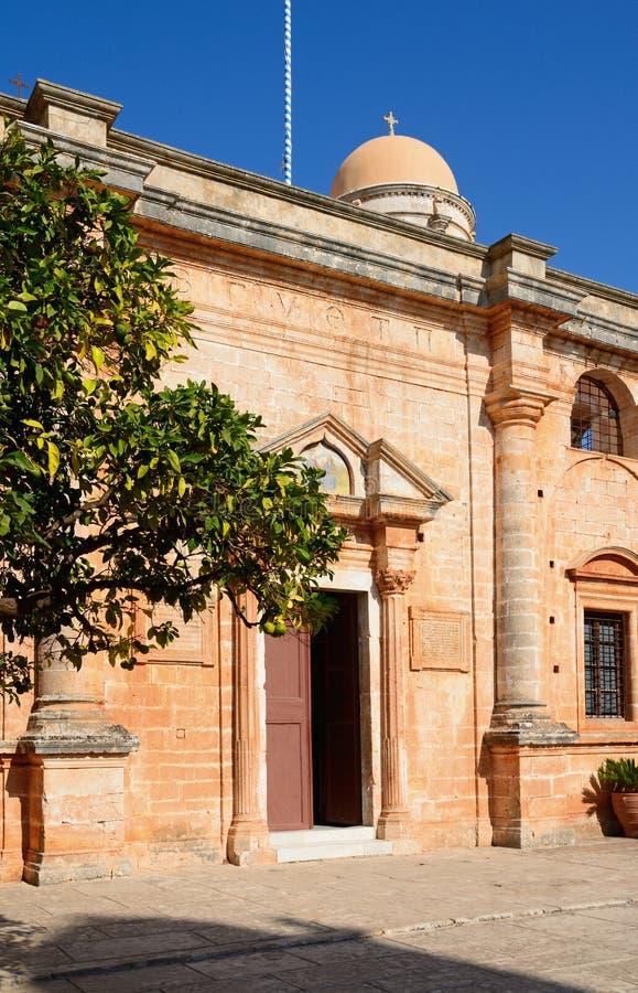 Монастырь Agia Triada, Крит стоковое фото rf