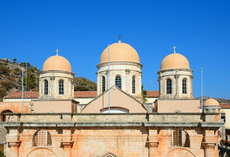 Монастырь Agia Triada, Крит стоковые фотографии rf