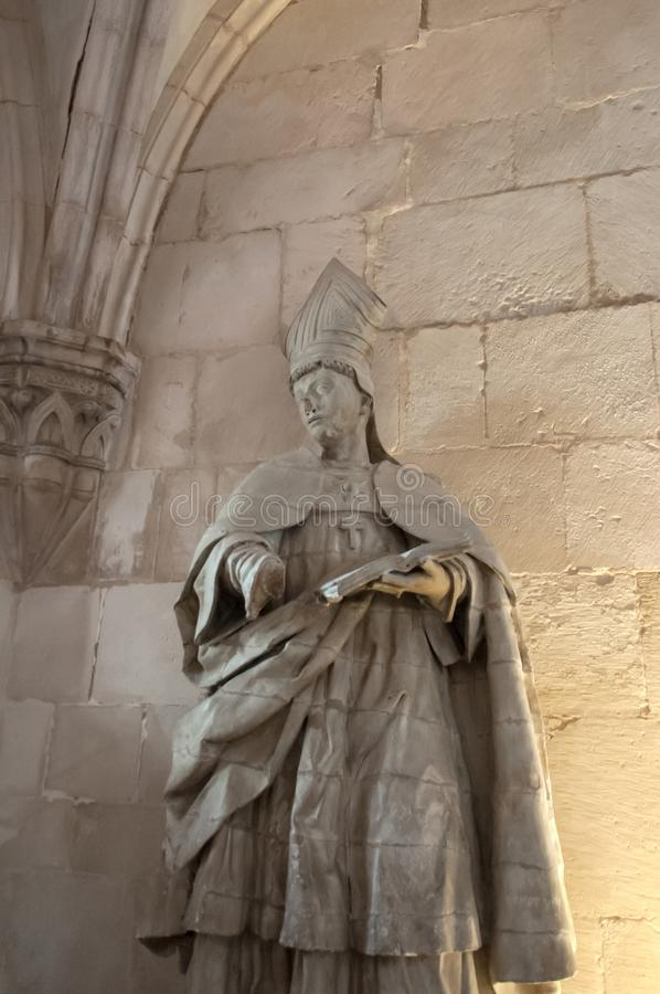 Монастырь Alcobaça, в Португалии, расклассифицированной как patrimony гуманности ЮНЕСКО стоковое фото