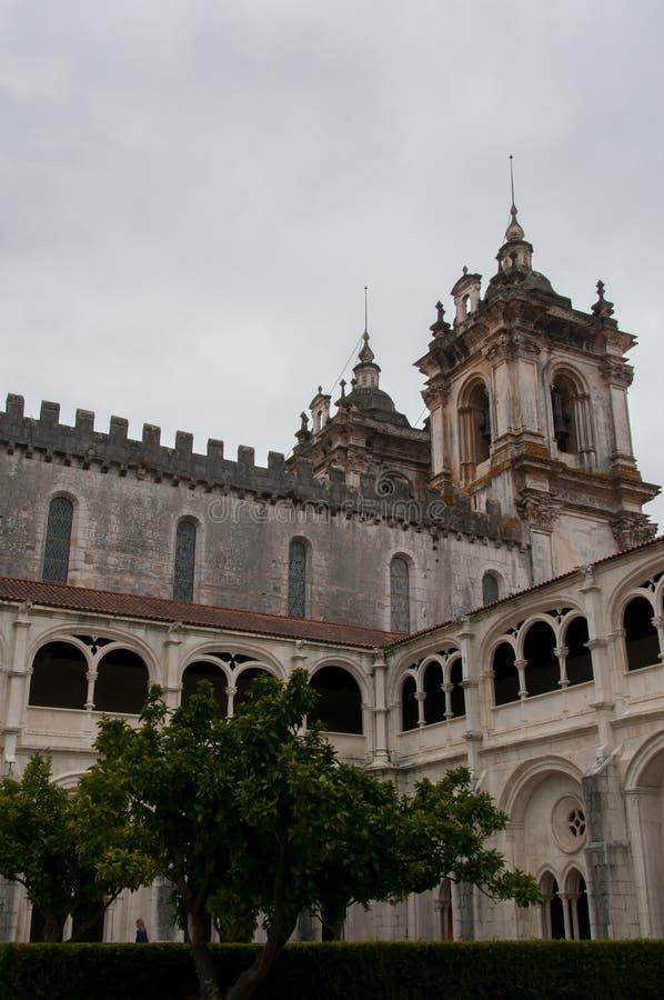 Монастырь Alcobaça, в Португалии, расклассифицированной как patrimony гуманности ЮНЕСКО стоковые изображения rf