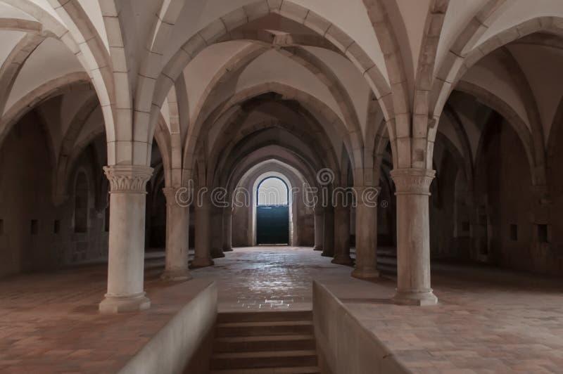 Монастырь Alcobaça, в Португалии, расклассифицированной как patrimony гуманности ЮНЕСКО стоковое фото rf