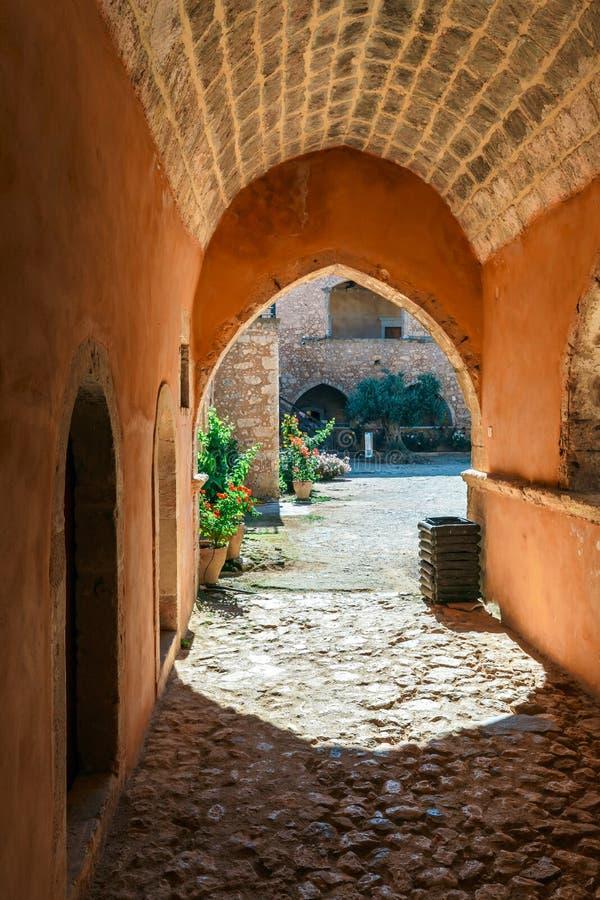 Монастырь Arkadi, Крит, Греция стоковая фотография