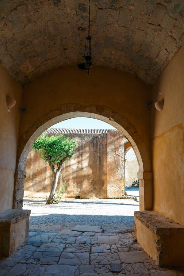 Монастырь Arkadi, Arkadi, Крит, Греция стоковые изображения rf