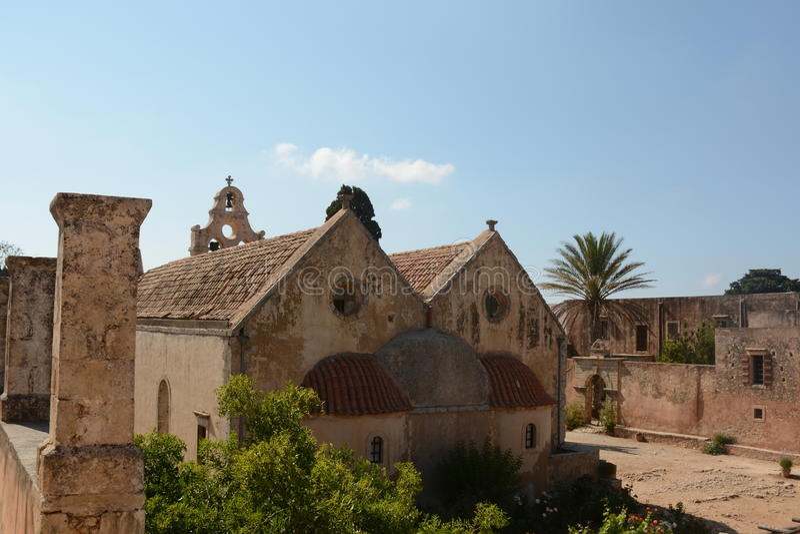 Монастырь Arkadi, Крит Moni Arkadiou! стоковые изображения