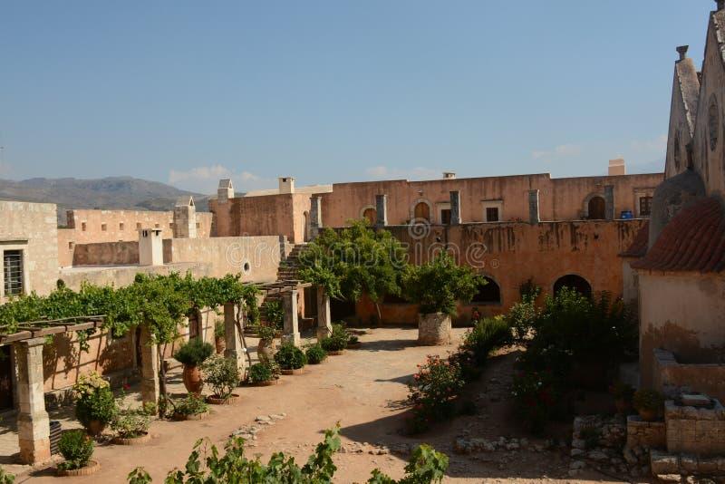 Монастырь Arkadi, Крит Moni Arkadiou! стоковая фотография