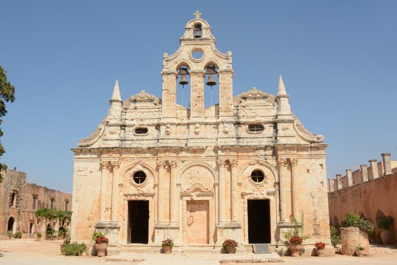 Монастырь Arkadi, Крит Moni Arkadiou! стоковая фотография rf
