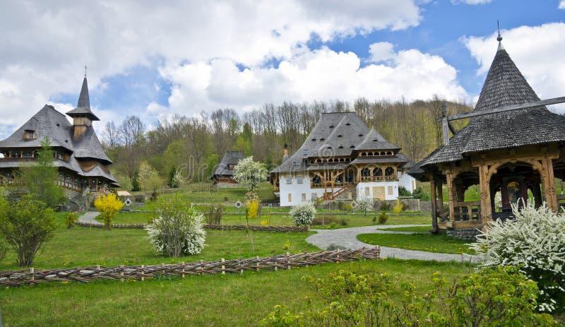 Монастырь BARSANA - Maramures, Румыния стоковые изображения rf