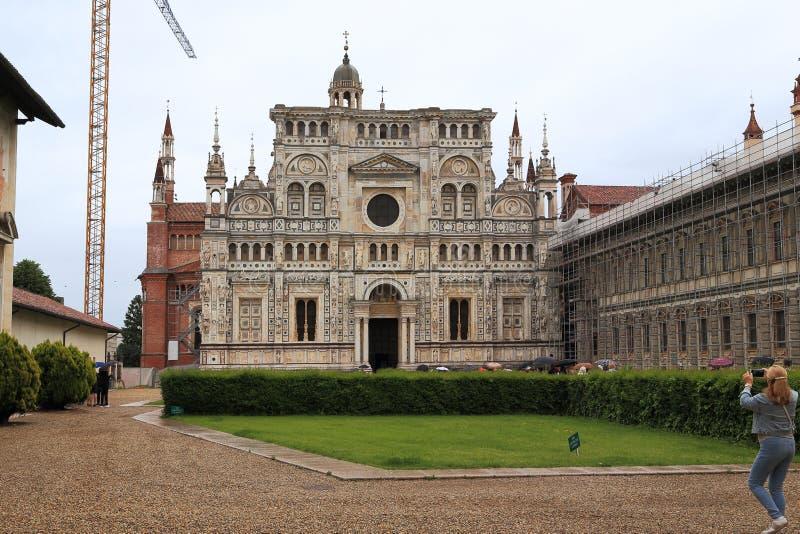 Монастырь di Павии Certosa, Италии стоковые фото