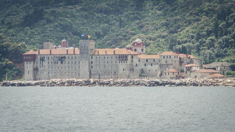 Монастырь Esphigmenou - Mounth Athos Греция стоковые фото