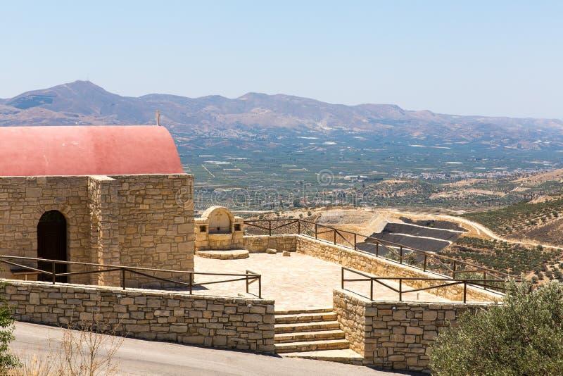 Монастырь (friary) в долине Messara на острове Крита в Греции стоковые фото