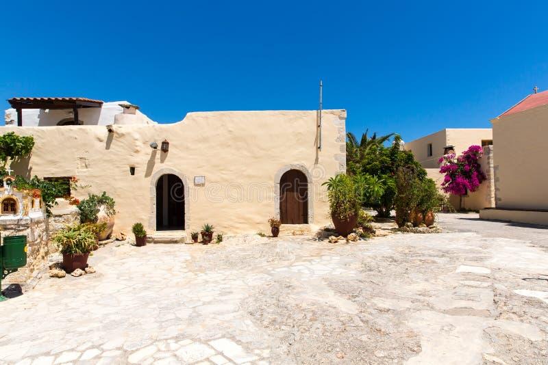 Монастырь (friary) в долине Messara на острове Крита в Греции стоковое изображение rf