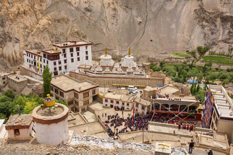 Монастырь gompa Lamayuru тибетский буддийский в Ladakh, Индии стоковые фотографии rf