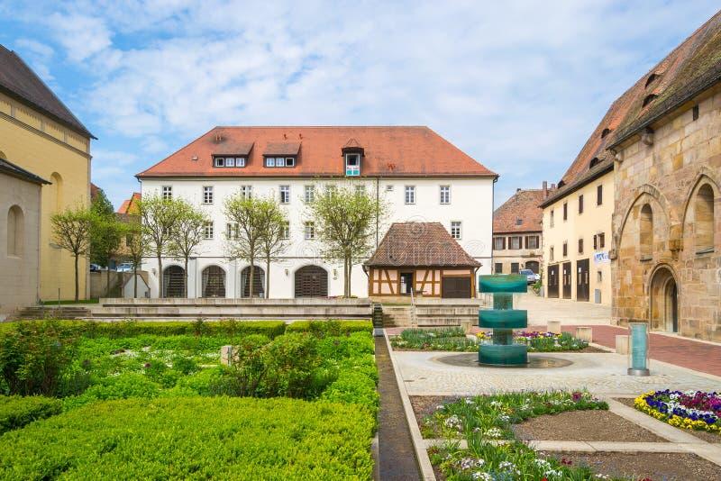 Монастырь Heilsbronn, Германия стоковое изображение rf