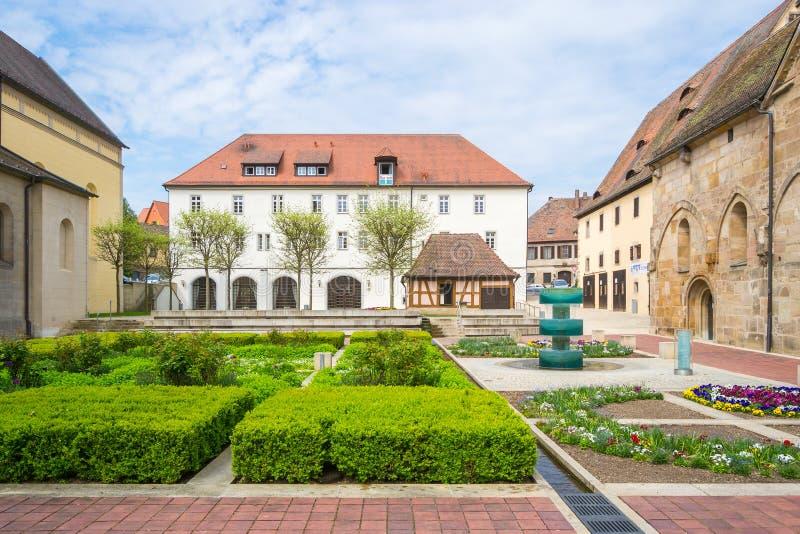 Монастырь Heilsbronn, Германия стоковая фотография rf