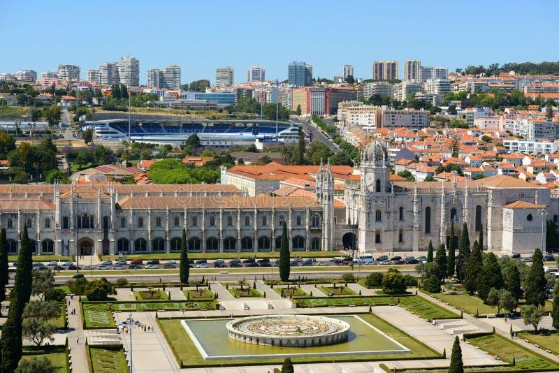 Монастырь Jeronimos, Лиссабон, Португалия стоковое фото rf