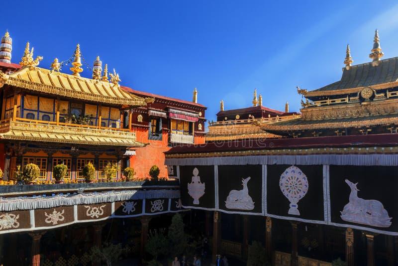 Монастырь Jokhang в Тибете, Китае стоковое изображение